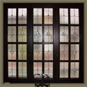Houston Bathroom Stained Glass Privacy Windows - SGH 14