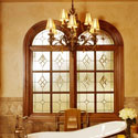 San Antonio Stained Glass Bathroom Windows