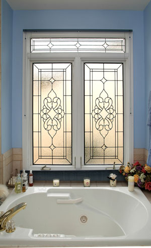 Bathrooms windows scottish stained glass custom studio for Custom transom windows