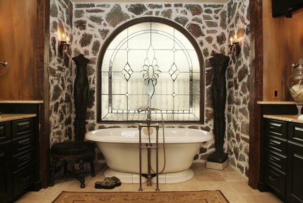 Privacy Bathroom Stained Gl Windows Bsg 3