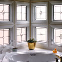 San Antonio Bathroom Stained Glass Panels