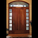 Stained Glass Entryway Sidelight Panels & Transom Above