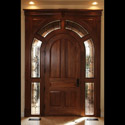 Castle Rock Entryway Stained Glass Rounded