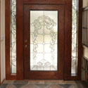 Sheridan Stained Glass Entryway Door