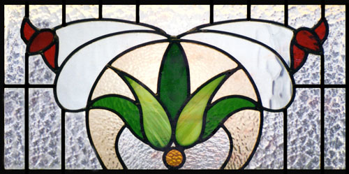 Floral Scottish Stained Glass Custom Studio
