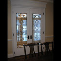 Interior Celtic Stained Glass Doors