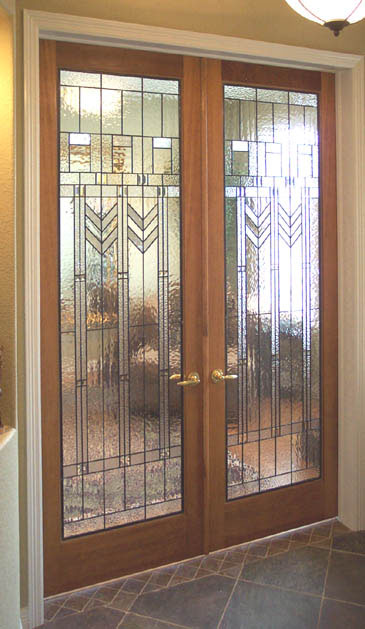 Custom stained glass for your doors for Art deco interior doors home