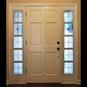 Dallas Stained & Leaded Glass Entryway Doors