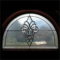San Antonio Bathroom Stained Glass Transom Window