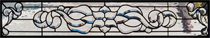 Beveled and Leaded Stained Glass Transom Windows