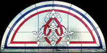 Stained Glass Transom Arched Window