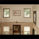 Transom Stained Glass Living Room Windows