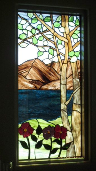 Floral stained glass scottish