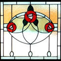 Three Roses Stained Glass
