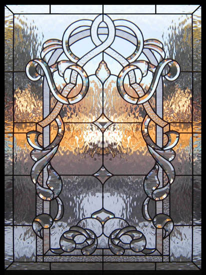 Stained Glass Window Designs : Traditional stained glass scottish