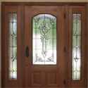 Beveled Stained Glass Entryway