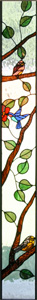 Bird Sidelights Stained Glass
