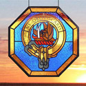 Family Crest Stained Glass Panel