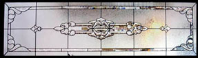 Celtic Stained Glass Transoms