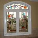 Colored Bathroom Stained Glass