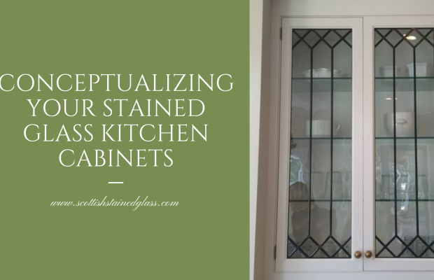 conceptualizing stained glass kitchen cabinets