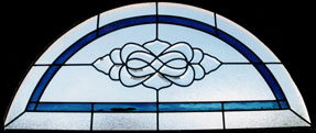 Custom Stained Glass Transom Windows
