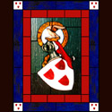 Traditional Family Crest Stained Glass