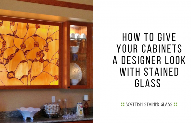 give cabinets designer look stained glass