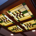 Prairie Style Stained Glass Ceiling