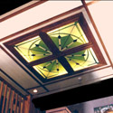 Hotel Stained Glass Ceiling