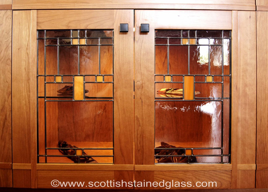 prairie stained glass kitchen cabinets