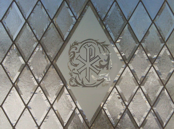 Clear Leaded Glass : Religious scottish stained glass custom studio