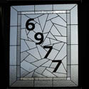 Residential Stained Glass Numbers