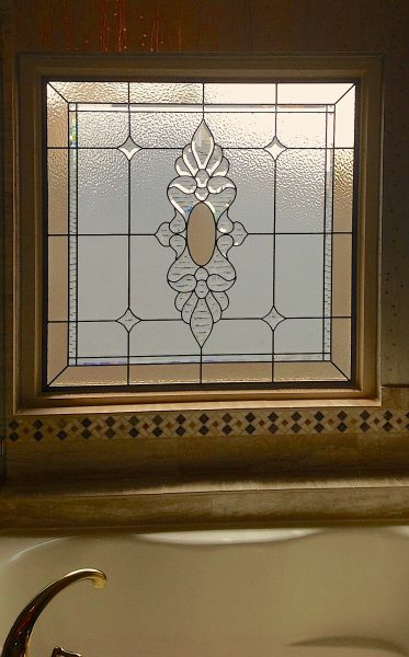 stained beveled glass window home