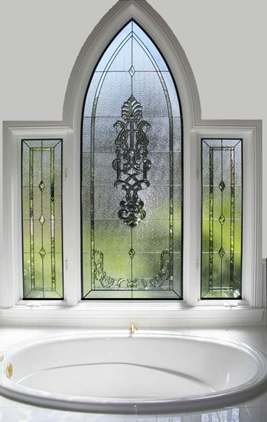 Independence missouri stained glass for Stained glass bathroom window designs
