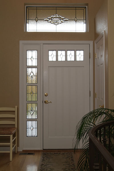 Custom cheyenne stained glass designs for Side doors for houses