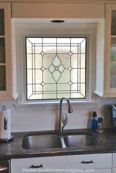 stained glass kitchen interior