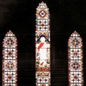 Triple Religious Stained Glass Window