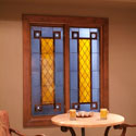 Castle Rock Custom Window Well Stained Glass
