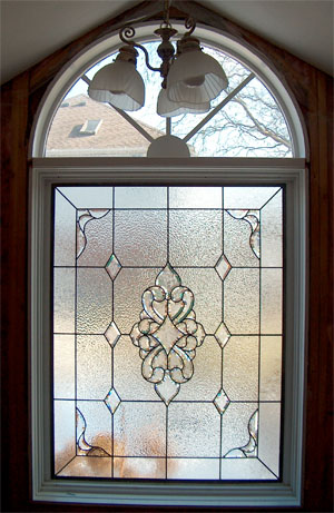 Bathroom Stained Glass Illinois After