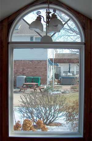 Bathroom Stained Glass Illinois Before
