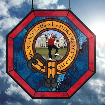 Golf Crest Stained Glass Panels