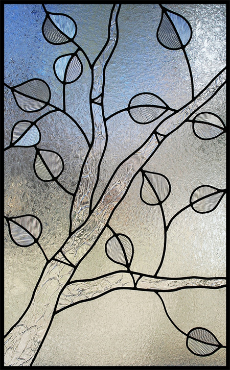stained glass aspen tree
