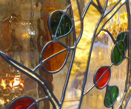 Stained Glass Tree Leaves