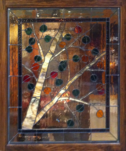 Artistic Stained Glass Aspen Trees