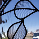 Provo Stained Glass Leaf Pair