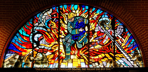 Philadelphias Fireman Stained Glass