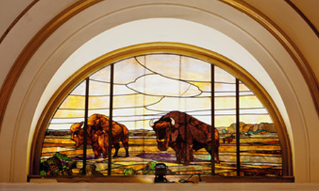 Salt Lake City Stained Glass Buffalo