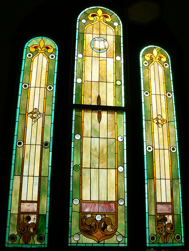 Misson Style Stained Glass