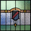 Antique Stained Glass Family Crest